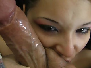 Rocco Siffredi loves always wet warm fuck hole of Brunette tramp before she gets fucked in her ass way