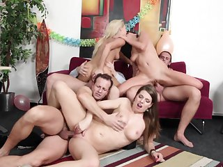 George Uhl is horny and can't wait no more to bang extremely horny Monalee's ass before she takes it deep in her mouth