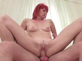 Redhead fucks six ways from Sunday