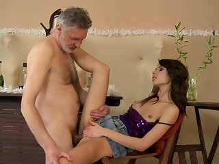Teen Betty Stylle displays her body parts as she gets her eager poked hard and deep by horny as hell guy