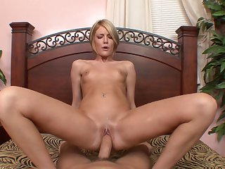 Teen Riley Ray lets man fuck her sweet mouth