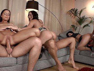 Brunette is good at love stick sucking and loves it