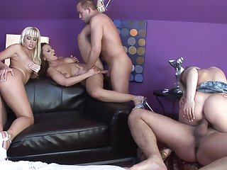 Blonde Cindy Dollar gagging on rock solid worm of hot fuck buddy