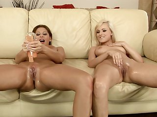 Blonde Bianca Golden and Alison Star both have fierce appetite for lesbian sex