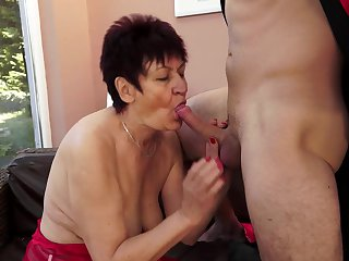 Old whore Anastasia needs a young dick
