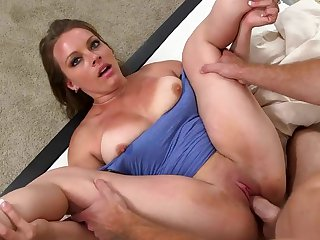 Shaved pussy MILF Kayla West gets fucked