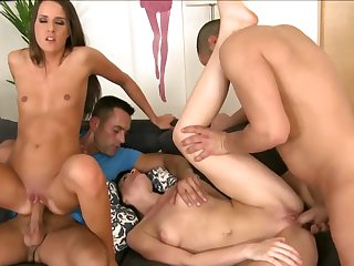 Adriana Brill and Babette get fucked together
