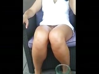 MILF upskirt no panties