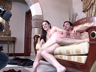 Blonde India Summer satisfies her sexual needs with Ryan Driller's sturdy dick in her love box