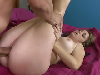 Teen Sierra Sanders has some time to get some pleasure with Anthony Rosano's tool in her mouth after bum fucking