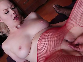 Blonde and her man are so fucking horny in interracial sex action
